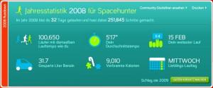 Laufstatistik 2008
